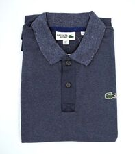 Lacoste Two Tone Heather Men's Polo Shirt Pitch/Ocean - Size 5/Large