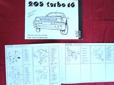 PEUGEOT 205  turbo 16  catalogue d'epoque pièces de rechange  05/85  Spare parts