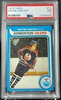 1979 Topps Hockey Wayne Gretzky ROOKIE RC #18 PSA 7 NEAR MINT