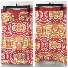BCBG Girls Cotton Gilla Poppy Multi Strapless Cotton Dress XS or Small Nwot  Sid