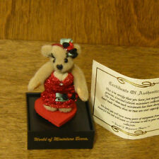 World of Miniature Bears #724 DOLLY, by Tina Richardson, NEW From Retail Store