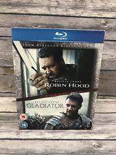 Robin Hood/Gladiator Russell Crowe Double Feature Uk Import Blu-ray Region Free