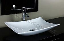 Bathroom Ceramic Vessel Sink With Chrome Faucet & Drain 7701AC5