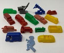 Hard Plastic Truck Antique Toy Lot Of 16 Construction Bus Car Crane 19-494