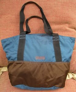 Duluth Trading Company Nylon Blue Brown Carry On Zipper Tote Travel Bag Weekend