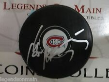 Sergei Gonchar Montreal Canadiens Signed Official Game Logo Puck LOM sg5