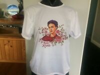 Frida Kahlo Inspired Round Neck T Shirt Top Size XL NEW!