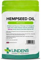 Hemp Seed Oil 300mg 100 Capsules Lindens Health + Nutrition (2063)
