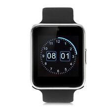 "1.54"" IPS LCD Screen Smart Wrist Watch Phone TF&SIM Slot F Android iPhone Black"