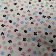 Meow Paw Prints Cat Fabric By M'Liss Rae Hawley Joanne Fabrics 100% COTTON  Cats