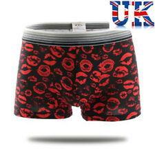 "Men's Sexy Black Birthday Boxers *Red Lips* To Fit  32""- 40"" * UK Seller *"