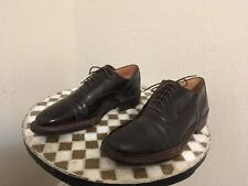 BLACK HARRIS ITALY DISTRESSED LACE UP OXFORD POWER SHOES 11 M