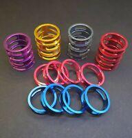 💥4Pcs CNC Carbon Stem 1-1/8 Headset Spacers Red,Blue,Pink,Purple,Titanium,Gold