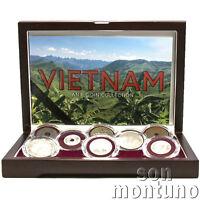 VIETNAM COIN SET - 8 Piece Collection in Wood Box with Certificate & Story Card