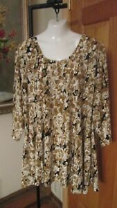 ATTITUDES BY RENEE Women Plus Size 4X Tunic Top  A378521 Abstract QVC