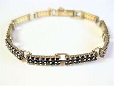 Bracelet Silver 900 Gold Plated with Garnet, 17,5 cm