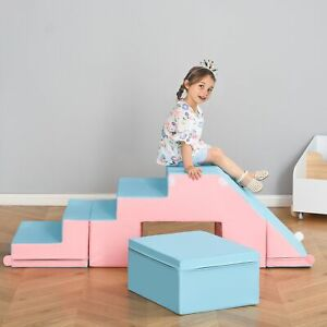 2-piece Soft Play Set Baby Foam Climber Climbing Block Toys Toddlers 1-3 Years