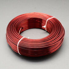 2mm ALLUMINIO Craft fiorista wire gioielli MATTONE REFRATTARIO ROSSO 3m Lunghezze
