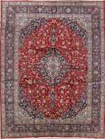 Traditional Semi Antique Floral Area Rug Wool Hand-knotted Oriental Carpet 10x13