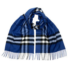 Burberry Classic Cashmere Scarf in Check - Cadet Blue