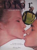 PUBLICITÉ CHRISTIAN DIOR TENDRE POISON FLEURS DE TENDRESSE - ADVERTISING