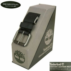 A1DMY Timberland Men's Black Leather Cut-To-Fit Boxed Leather Belt
