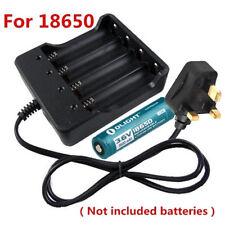4 Slots UK Plug Battery Batteries Charger for 3.7v 18650 Rechargeable Batteries