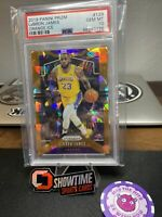 LEBRON JAMES 2019 PANINI PRIZM #129 ORANGE ICE LAKERS PSA 10
