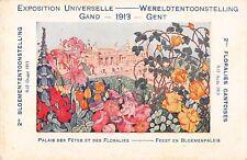 CPA BELGIQUE EXPOSITION UNIVERSELLE GAND 1913 FLORALIES