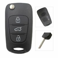 3 botones Plegable Flip Car Remote Key Fob carcasa Shell Fit para HYUNDAI KIA