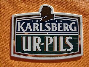 KARLSBERG Ur-Pils original Zapfhahnschild Brauerei Bier Werbung Reklame