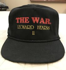 The War II Leonard Hearns Vintage Black Baseball Cap Hat NWOT! Excellent!