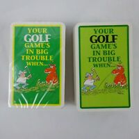 Humorous Golf Double Deck Playing Cards by Ivory Tower 1988