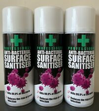 Anti-Bacterial Surface Sanitiser by Azpro Professional - 3 x 400ml cans