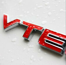 Red Metal VTEC Sticker Auto Fender Decal Sports Letter Chrome Emblem  Honda