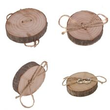 Valentine Wedding Party Display Decoration Ring Holder Pillow Wooden Rustic