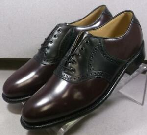 248573 MS50 Men's Shoes Size 8.5 EEE Burgundy Leather Lace Up Johnston & Murphy