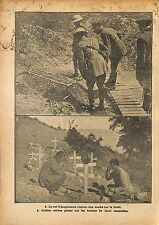 Bataille la Somme King George V/Balkans Wars Serbia Serbie WWI 1917 ILLUSTRATION