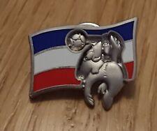 World Cup Pin Badge France 98 Yugoslavia Flag Football Soccer Mascot Footix 1998
