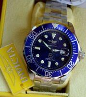 INVICTA GRAND DIVER PROFESSIONAL AUTOMATIC JAPAN 300m BLUE new box warranty.