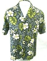 Hana Fashion Men Hawaiian made ALOHA shirt pit to pit 24 L camp luau floral VTG