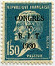 """FRANCE STAMP TIMBRE N° 265 """" B.I.T PARIS PASTEUR 1 F 50 SURCHARGE """" NEUF x TB"""