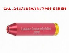 Red Laser Bore Sighter .243 .308 Win Cartridge Sight Boresighter .308 Copper NEW