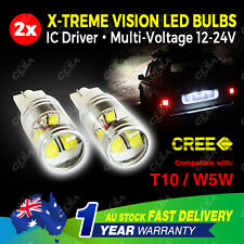 Pair 60W LED T10 W5W 12V-24V Wedge Light Bulb Dashboard Tail Parker Trunk Plate