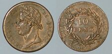 FRANCE 10 centimes 1825A French Colonies Charles X nice coin