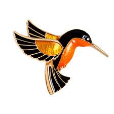 1x Vintage Ladies Animal Crystal Flying Bird Hummingbird Brooch Pin Jewelry Chic
