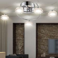 Luxus 25W LED Decken Leuchte Lampe Chrom Kristalle Blüten Form Flora Wohn Zimmer