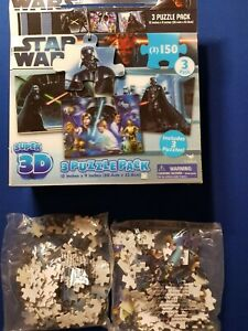 Star Wars Super 3D Two originally Sealed Puzzle Pack in Original Box.