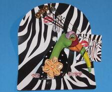 Emily Whimsical Bird Ceramic Pin Blue Sky Clayworks Lynda Corneille Swak