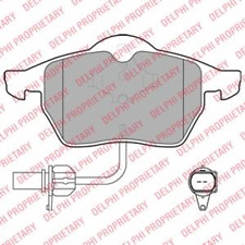 Bremsbelagsatz Scheibenbremse - Delphi LP1672